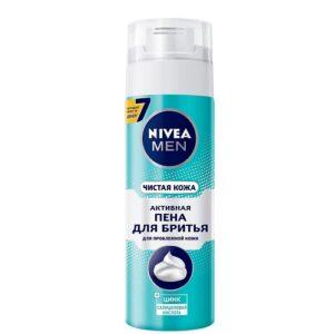 Пена для бритья NIVEA MEN Чистая кожа — 200 мл.